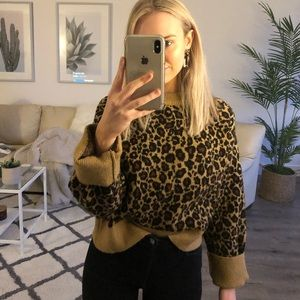 Zara Leopard Knit Sweater